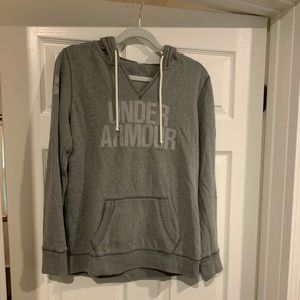 Grey under armor sweat shirt